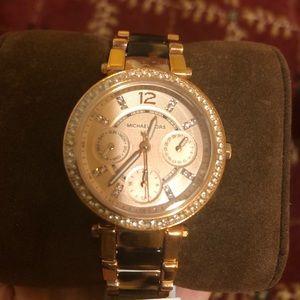 Michael Kors Tortoise Rose Gold Watch
